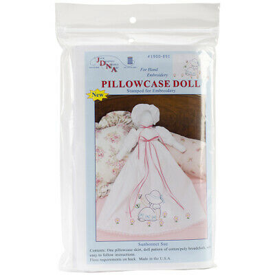 Jack Dempsey Stamped White Pillowcase Doll Kit-Sunbonnet Sue, 1900 891
