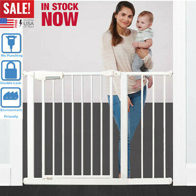 "40"" Baby Safety Gate Extra Wide Walk Thru Pet Door Child Toddler Fence Cat Dog"