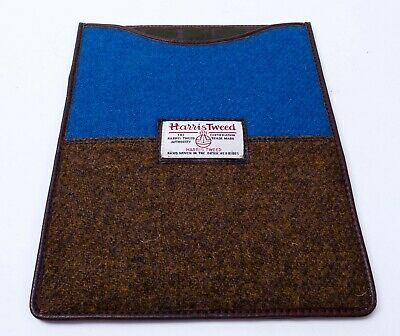 Harris Tweed IPad, Tablet, Kindle Case Cover NEW  Blue and Brown