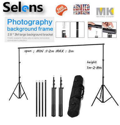3m Adjustable Background Support Stand Photo Video Crossbar Photography Pro Kit