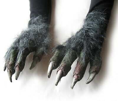Evil Witch Monster Green Wicked Claws Hands Adult Halloween Costume Gloves