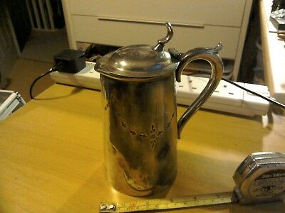 Vintage Silver Plated Hot Water Jug With Hinged Lid