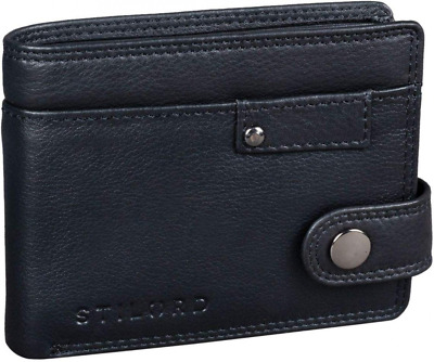 STILORD 'Finley' Leather Wallet Men RFID and NFC Protection with Security Button