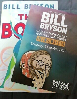 New Autographed hardback copy of The Body: A Guide for Occupants by Bill Bryson