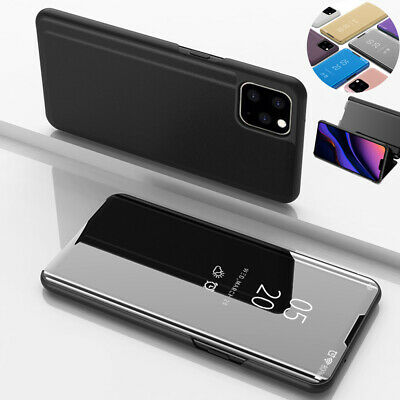 Flip Luxury View Mirror Stand Plating Shockproof Case For iPhone 11 Pro Max