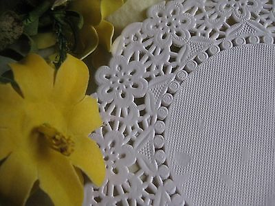 """4.5"""" Inch White Paper Round Doily Flower Lace 10 Pcs Craft Round Cards Stamping"""