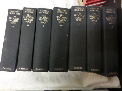 by WINSTON CHURCHILL - SELECTION OF VOLUMES - WWII, CASSELL - CHOICE OF VOLUMES