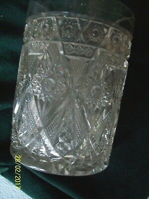 Tumbler Juice Glass Crystal Depression Glass Water Cup  Very Old Antique