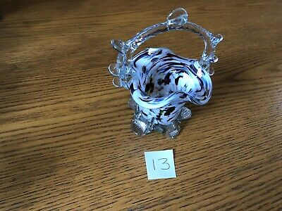 Vintage Murano End Of Day Glass Vase Posy Bowl Number 13