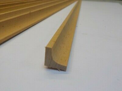 8x90cm (7.2m) Unfinished Natural Wooden Frame Fillet Trim Scotia Moulding 10mm