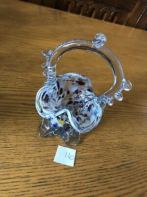 Vintage Murano End Of Day Glass Vase Posy Bowl Number 16