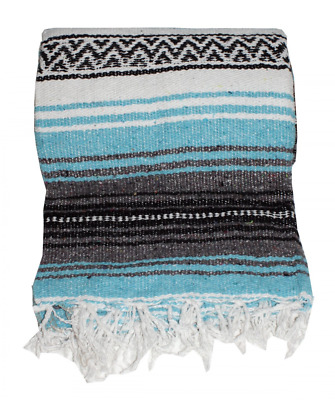 Canyon Creek Authentic Mexican Yoga Falsa Blanket (Turquoise)