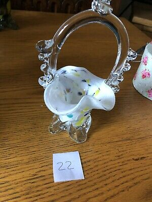 Vintage Murano End Of Day Glass Vase Posy Bowl Number 22