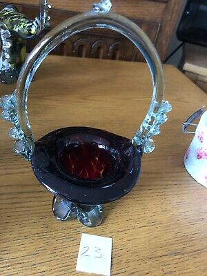 Vintage Murano End Of Day Glass Vase Posy Bowl Number 23