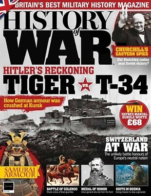 History Of War Magazine Issue 57 - Tiger Tank - T-34 - Medal Of Honor - Colenso