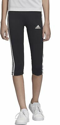 adidas Equipment 3 Stripe Junior 3/4 Capri Running Tights - Black