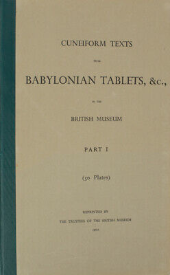 CUNEIFORM / Texts from Babylonian Tablets &c in the British Museum 1960