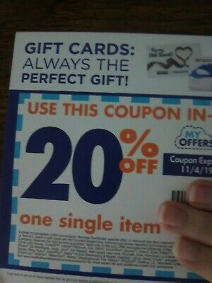 BED BATH & BEYOND Coupon ~ 20% off 1 Item ONLINE ~ Exp 11/4 = Fast Delivery!
