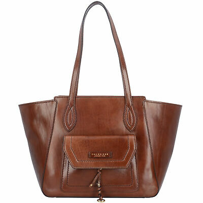The Bridge Elba Shopper Tasche Schultertasche Damen Leder 31 cm (marrone)