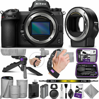 Nikon Z6 Mirrorless Digital Camera Body + Nikon FTZ Mount Adapter with Bundle