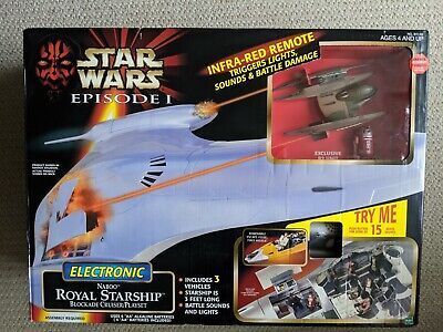 Star Wars Episode 1 E I TPM Naboo Royal Starship Blockade Cruiser/Playset 1999
