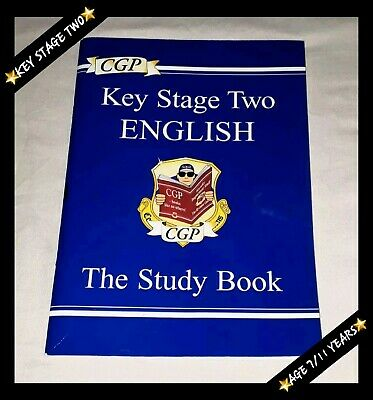 ❤Cgp Key Stage Two English : The Study Book (A4 Size Paperback) Kids 7-11▪Sats❤
