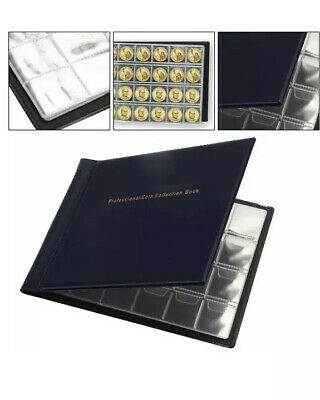 240 Album Coin Penny Money Storage Book Case Folder Holder Collection Collecting