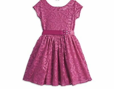 New With Tags Girl's AMERICAN GIRL Merry Magenta  Lace  OverlayDress Size 14