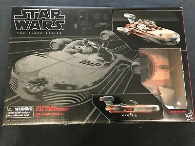 Star wars black series landspeeder MIB with luke figure