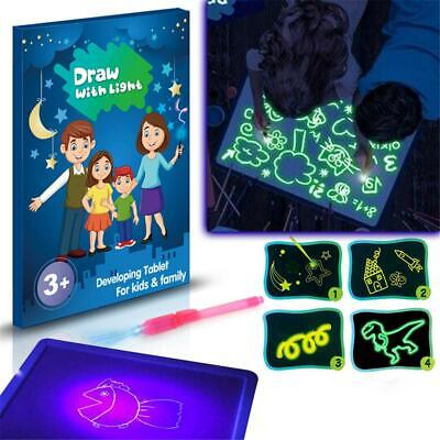 3D Magic Drowing Pad Draw With Light Fun And Developing Toy Drawing Board Gift
