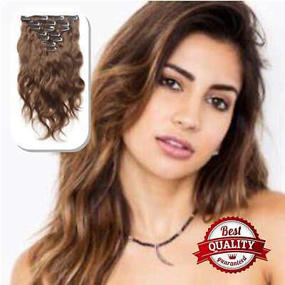 EXTENSIONS CHEVEUX A CLIPS REMY HAIR 100% Brillant Nature Flow épais Luxe 3A