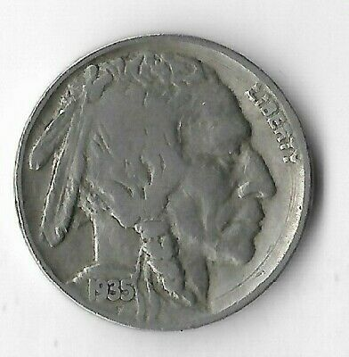 Rare Very Old Antique 1935 US Liberty Buffalo Nickel Collection Coin Cent Money