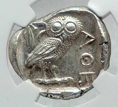 ATHENS Greece 440BC Ancient Silver Greek TETRADRACHM Coin Athena Owl NGC i80946