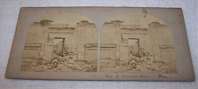 Scarce 1850's SV Photo - Medeenet Haboo, Temple at Thebes, Egypt - Francis Frith
