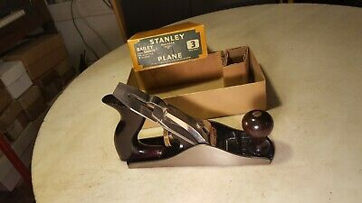 Antique #3 Smooth Plane Very Nice In The Box - Never Been Dirty