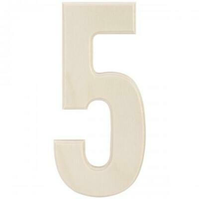 """Baltic Birch University Font Letters & Numbers 5.25""""-5, LBB-131"""