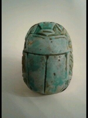 Vintage Hand Carved Egyptian Scarab Bug Beetle Ring Size 6.5 *ONE OF A KIND!*