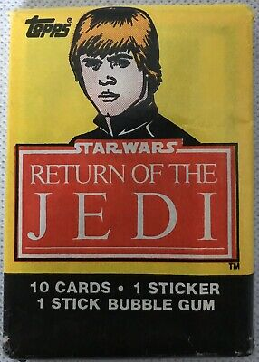 1983 Topps - RETURN OF THE JEDI / Unopened Sealed Star Wars Trading Card Pack