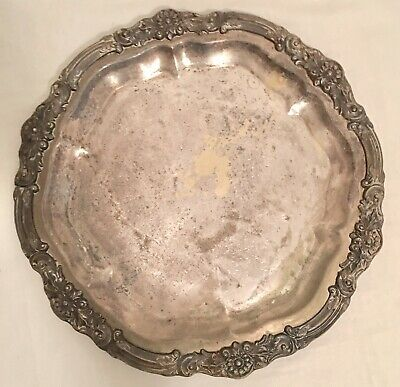 """Vintage F. B. Rogers Silver Co. 1883 # 6734 Silver Serving Platter Tray 14"""""""