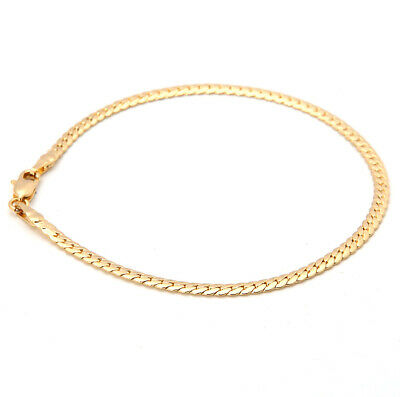 Luxury 18K Yellow Gold Plated Women's/Men's Link Bracelet Chain Jewelry Gift