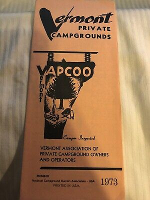 Vermont Private Campgrounds 1973 Travel Brochure Guide VAPCOO