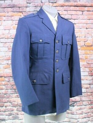 Vtg US Air Force Wool Blend Man's USAF 4 Button Sport Coat Blazer 40R