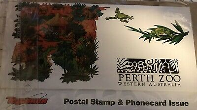 Perth Zoo Australia Postal Stamp and Phone Card Set Sealed