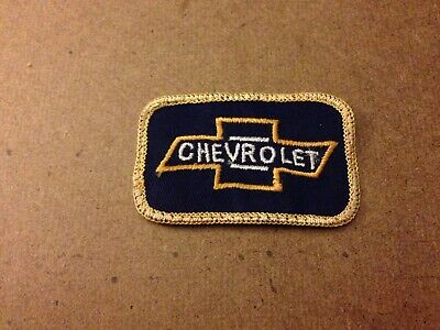 """Vtg.  Chevrolet Chevy BowTie  Iron-On Embroidered Patch 3""""x 2"""" Display USA"""
