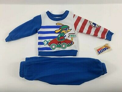 New Rally E Vintage NOS Sweatsuit Set Pants 2T Toddler Jogger Sweatshirt