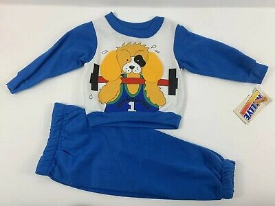 New Rally E Vintage NOS Sweatsuit Set Pants 2T Toddler Jogger Sweatshirt Dog