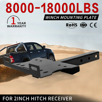 Universal Winch Cradle Mounting Plate For 2inch Hitch Receiver Truck Trailer 4WD