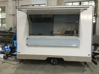white box food van trailer caravan scooter kiosk truck cart