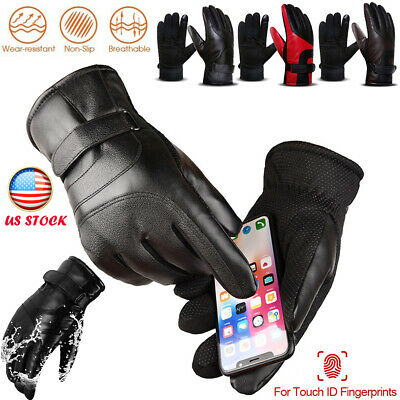 New Winter Warm Windproof Waterproof Anti-slip Thermal Touch Screen Bike Gloves