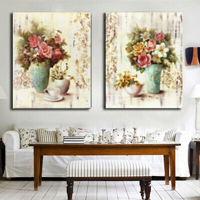 Flower Vase Abstract Wall Art Painting Canvas Print Picture Home Decor  H